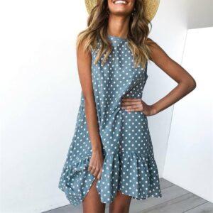 Dámské puntikované šaty ŽENY