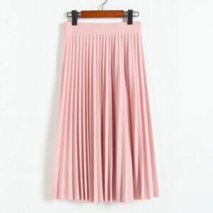 Women's High Waist Pleated Skirt ŽENY