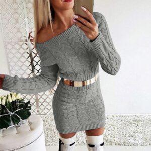 Dámské zimní pletené šaty Adele ŽENY