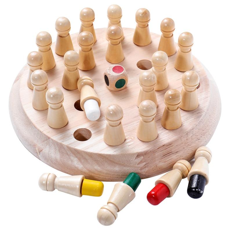 Dřevěné paměťové šachy