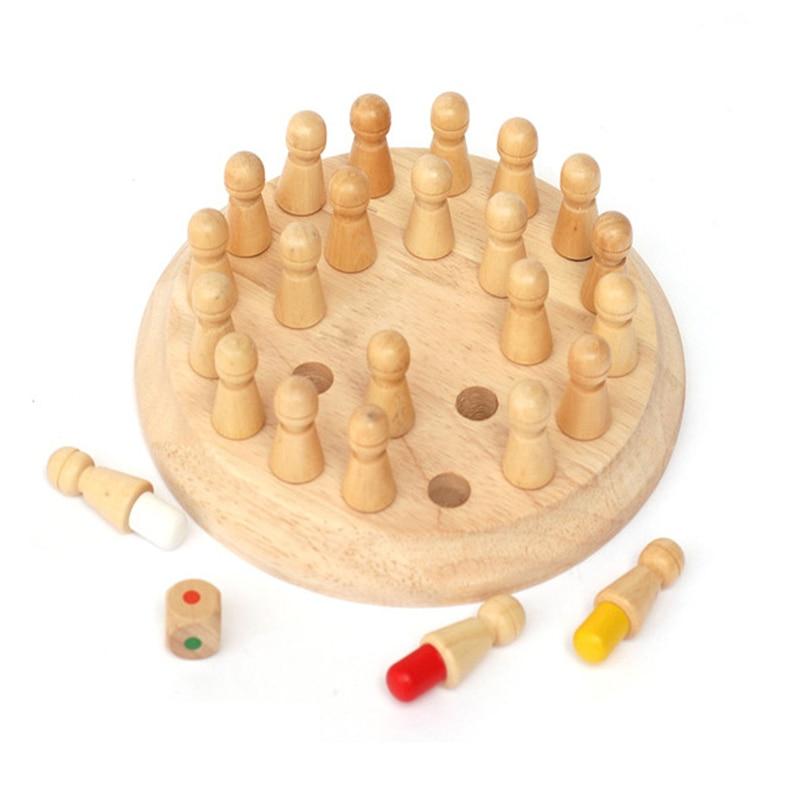 Dřevěné paměťové šachy DĚTÍ 2
