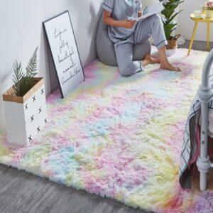 Měkký duhový koberec Domácnost a zahrada