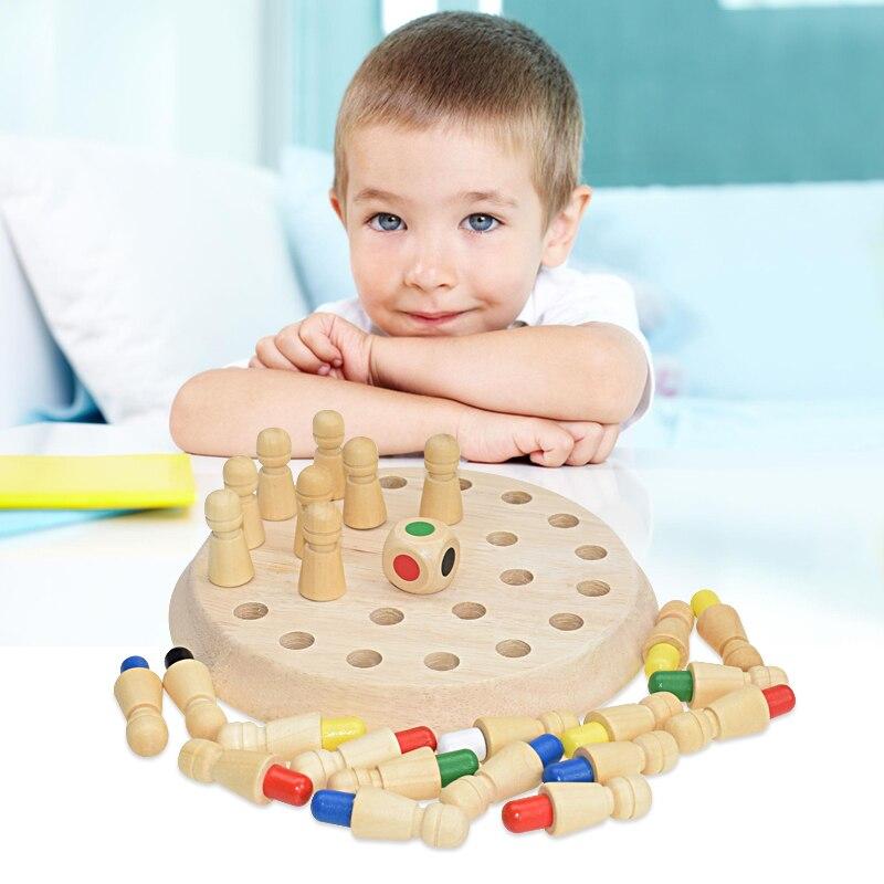 Dřevěné paměťové šachy DĚTÍ
