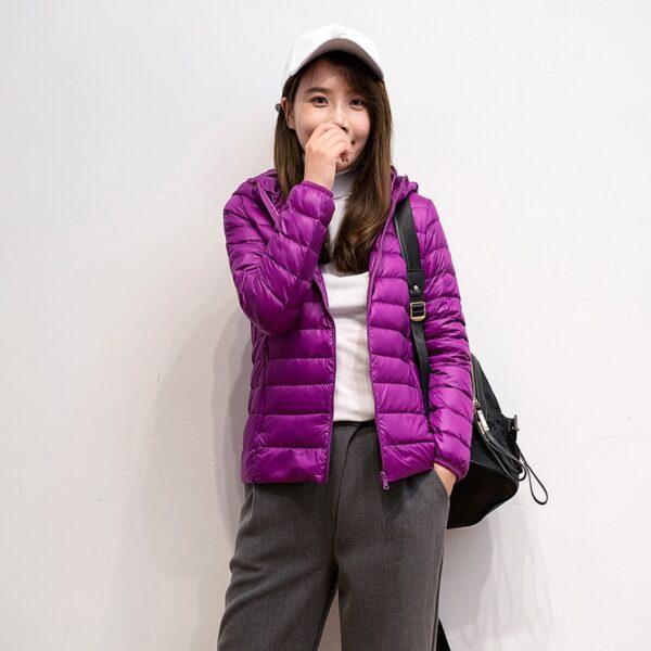 Ultralehká dámská péřová bunda ŽENY 10