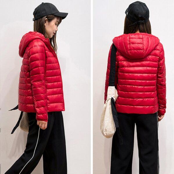 Ultralehká dámská péřová bunda ŽENY 28