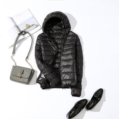Ultralehká dámská péřová bunda ŽENY 16
