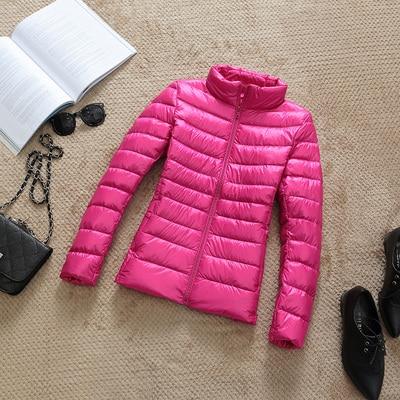 Ultralehká dámská péřová bunda ŽENY 12