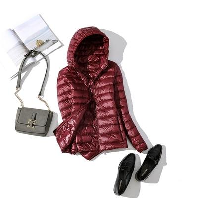 Ultralehká dámská péřová bunda ŽENY 6