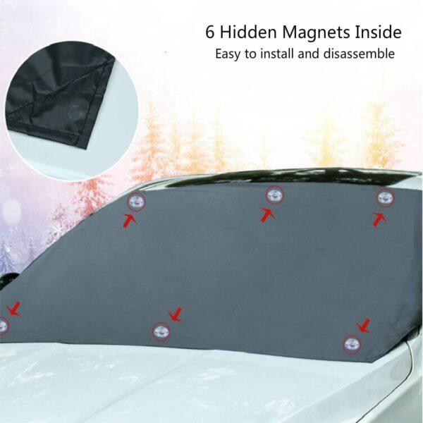 Magnetická clona na auto proti mrazu a slunci AUTO/MOTO 3
