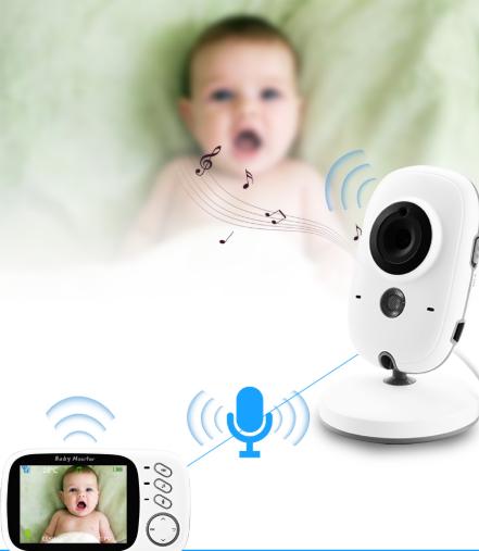Bezdrátová rádio chůvička s kamerou a interkomem Nanny DĚTÍ 4