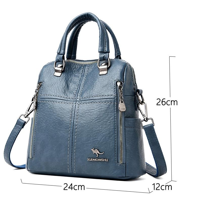 Dámský malý luxusní kožený batoh 2v1 Italy Kabelky 5