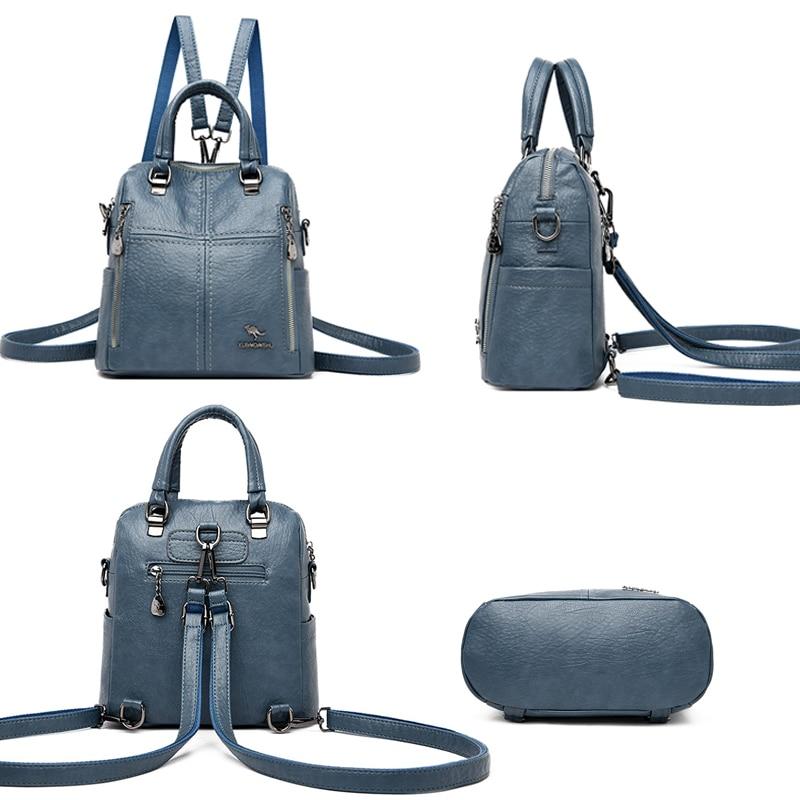 Dámský malý luxusní kožený batoh 2v1 Italy Kabelky 6