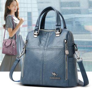 Dámský malý luxusní kožený batoh 2v1 Italy Kabelky 7