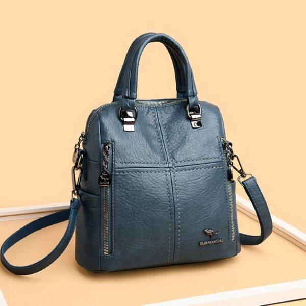 Dámský malý luxusní kožený batoh 2v1 Italy Kabelky 3