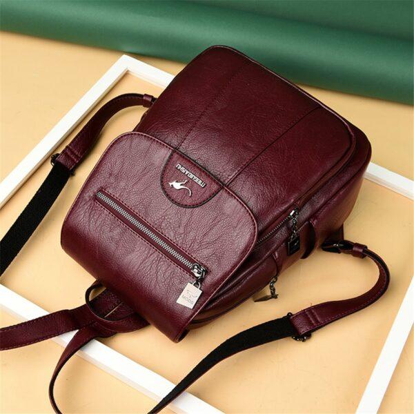 Dámský  luxusní kožený batoh Vintage MGDS Kabelky 6