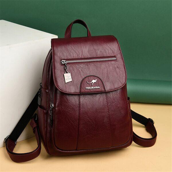 Dámský  luxusní kožený batoh Vintage MGDS Kabelky