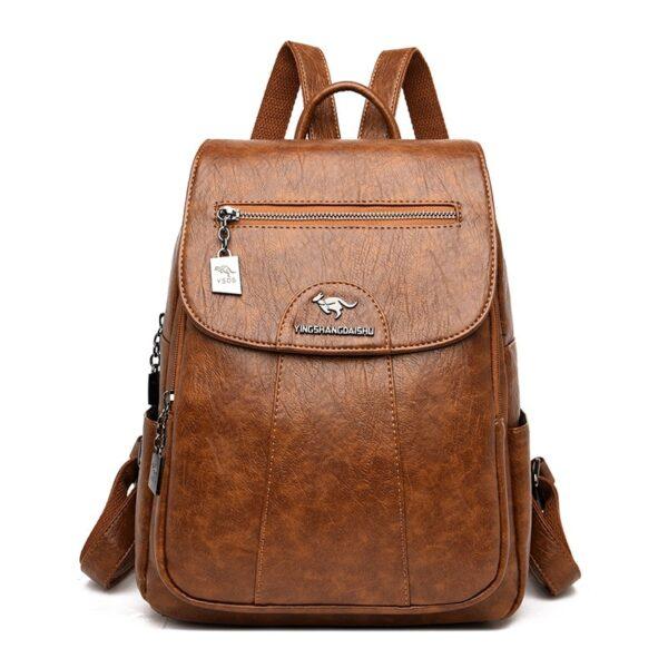 Dámský  luxusní kožený batoh Vintage MGDS Kabelky 10