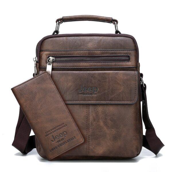 Elegantní pánská taška přes rameno Jeep + Peneženká Kabelky 4