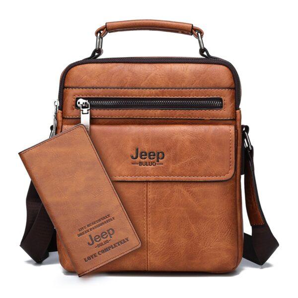 Elegantní pánská taška přes rameno Jeep + Peneženká Kabelky 2