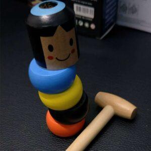 Nezničitelná dřevěná hračka s kladivem MAGIC MAN HRY