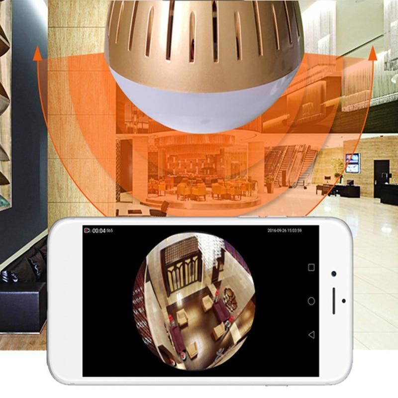 1080P HD 2MP Žárovka bezpečnostní kamera IPTV CCTV  WIFI Domácnost a zahrada 2