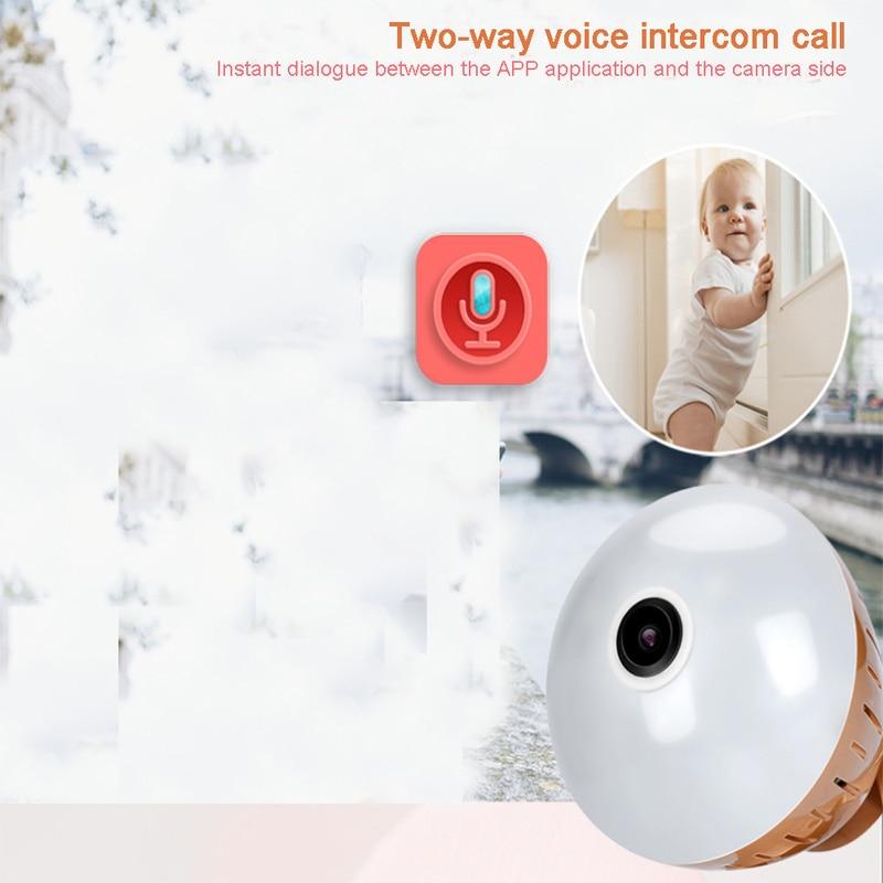1080P HD 2MP Žárovka bezpečnostní kamera IPTV CCTV  WIFI Domácnost a zahrada 6