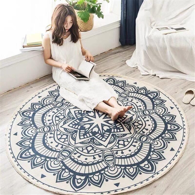 Kulatý koberec se vzorem Domácnost a zahrada
