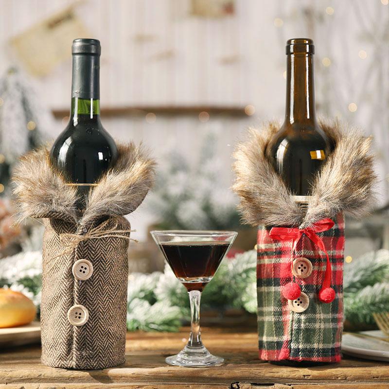 Vánoční nebo novoroční návlek na láhev na víno Domácnost a zahrada 5