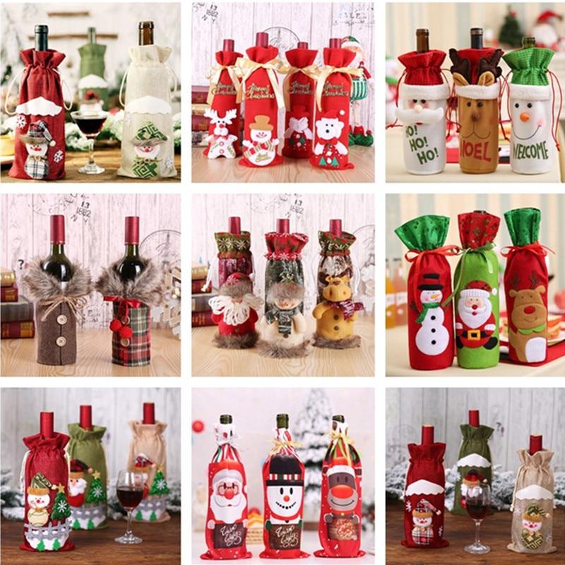 Vánoční nebo novoroční návlek na láhev na víno Domácnost a zahrada 6