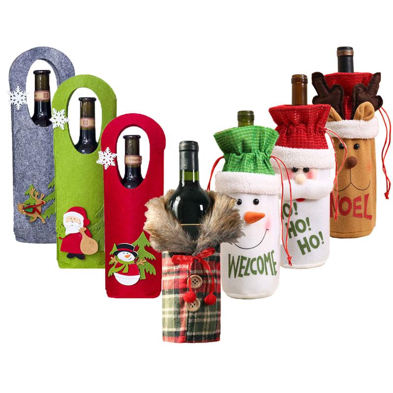Vánoční nebo novoroční návlek na láhev na víno Domácnost a zahrada 4