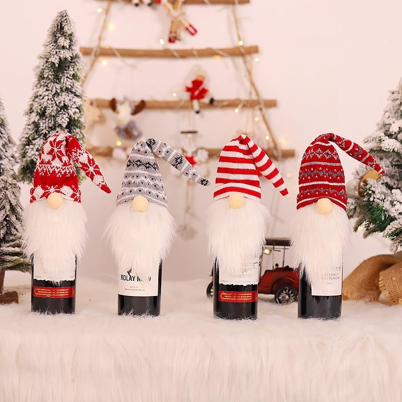 Vánoční nebo novoroční návlek na láhev na víno Domácnost a zahrada 2