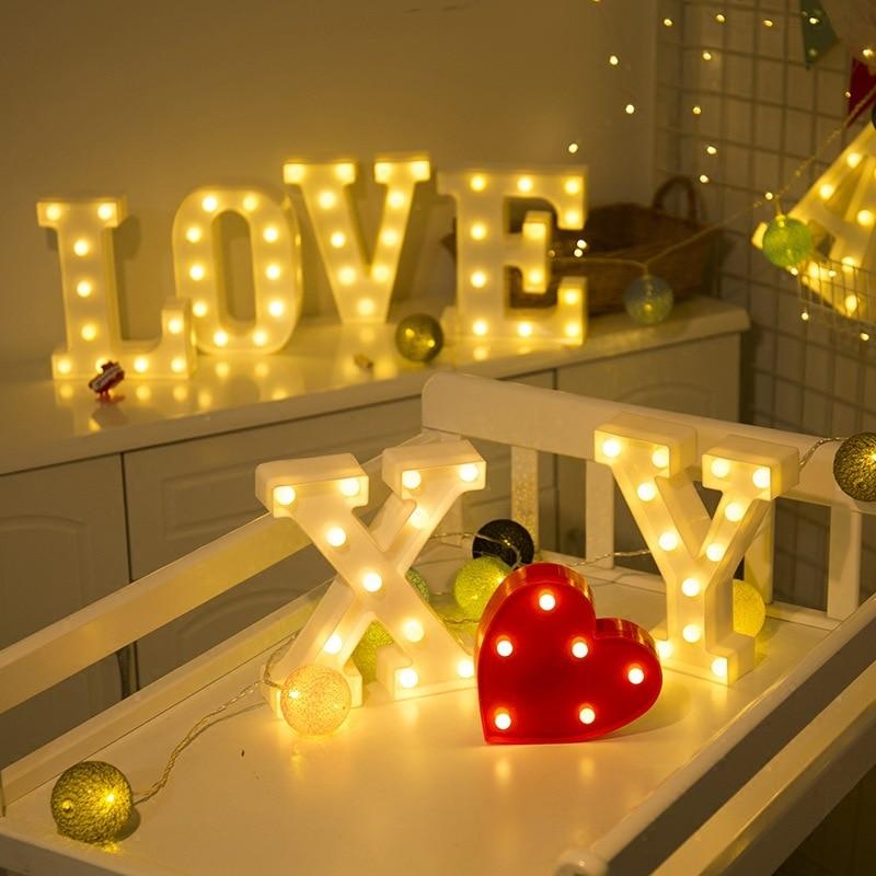 Světelná LED písmena A001 Domácnost a zahrada 5