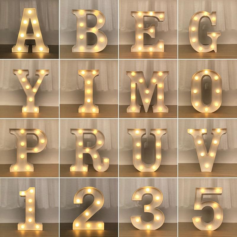 Světelná LED písmena A001 Domácnost a zahrada 2