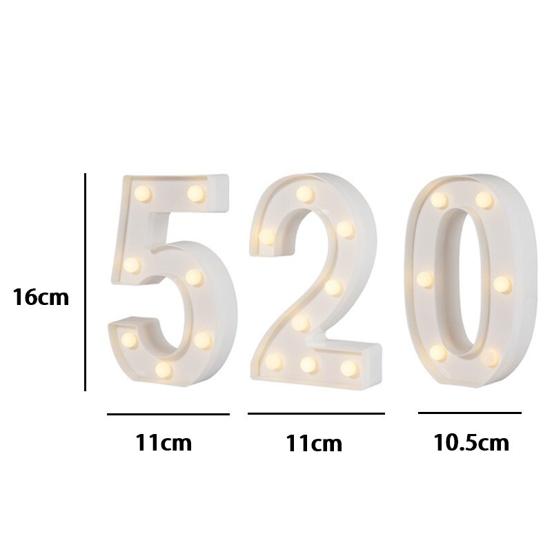 Světelná LED písmena A001 Domácnost a zahrada 6